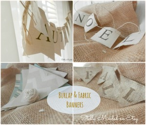 stella minded Burlap & Fabric Banners FB