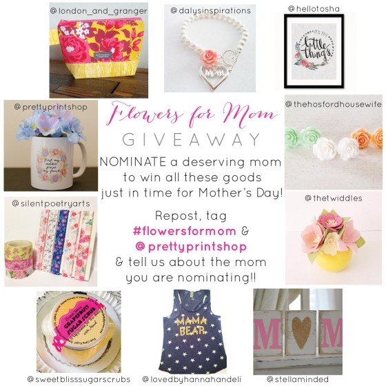 FLOWERS FOR MOM GIVEAWAY