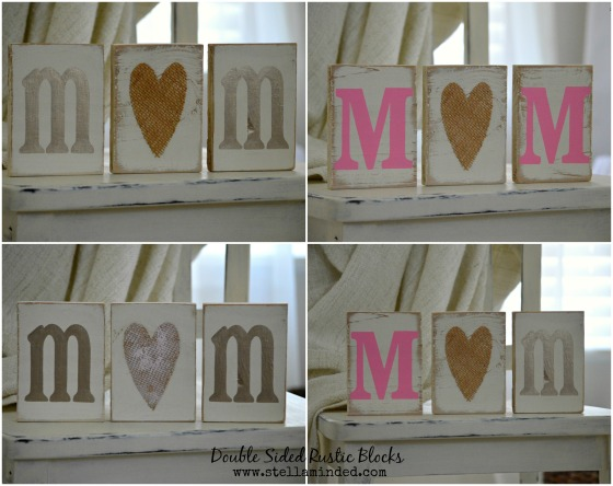 stella minded 2-Sided MOM Blocks with Burlap Heart 2