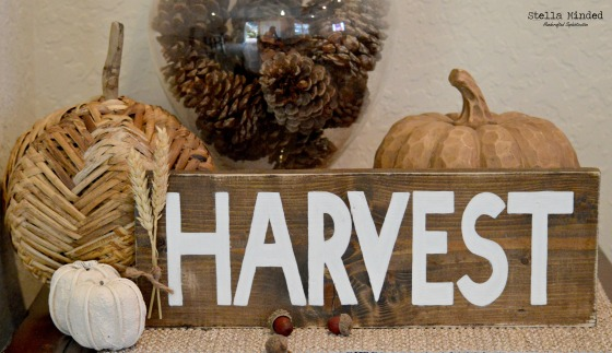 stella minded Rustic HARVEST sign 2