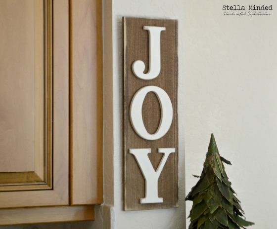 stella minded Rustic JOY sign 1