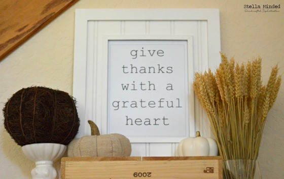 stella minded Thanksgiving Vignette & Printable 1