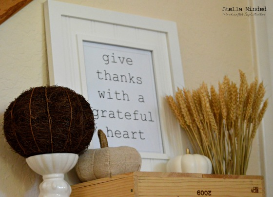 stella minded Thanksgiving Vignette & Printable 2