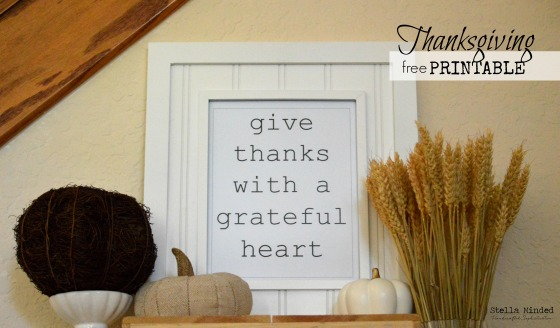 stella minded Thanksgiving Vignette & Printable 3