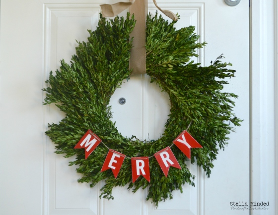 stella minded Boxwood Wreath - front door