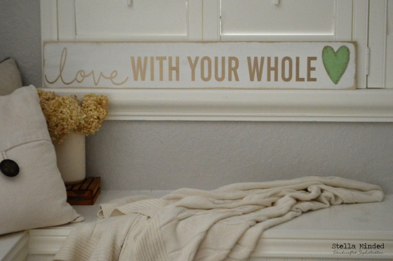 stella minded love With Your Whole Burlap Heart sign 2